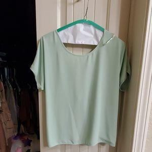 Sexy silky top
